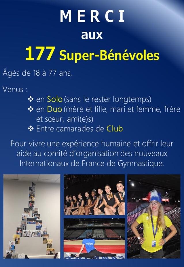 Evènement : Retour sur le parcours des Bénévoles des Internationaux de France de Gymnastique 2017