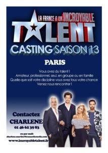 """Casting """"La france a un incroyable talent"""""""