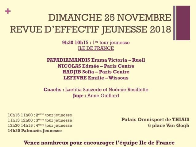 GR : Flyer revue d'effectif Elite et Jeunesse - 24 et 25 novembre - Thiais