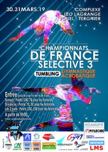 GAC-TUM - Dossier des Championnats de France Sélective 3 les 30-31 Mars 2019 à Tergnier