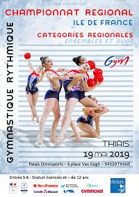 GR : Palmarès Chpt Régional Ens/Duo REG - Thiais et Bailly Rommainvilliers, le 19 mai 2019