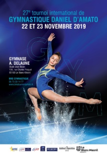 GAM - GAF : Affiche 27ème tournoi International de Gymnastique à Blanc Mesnil les 22 et 23 Novembre 2019