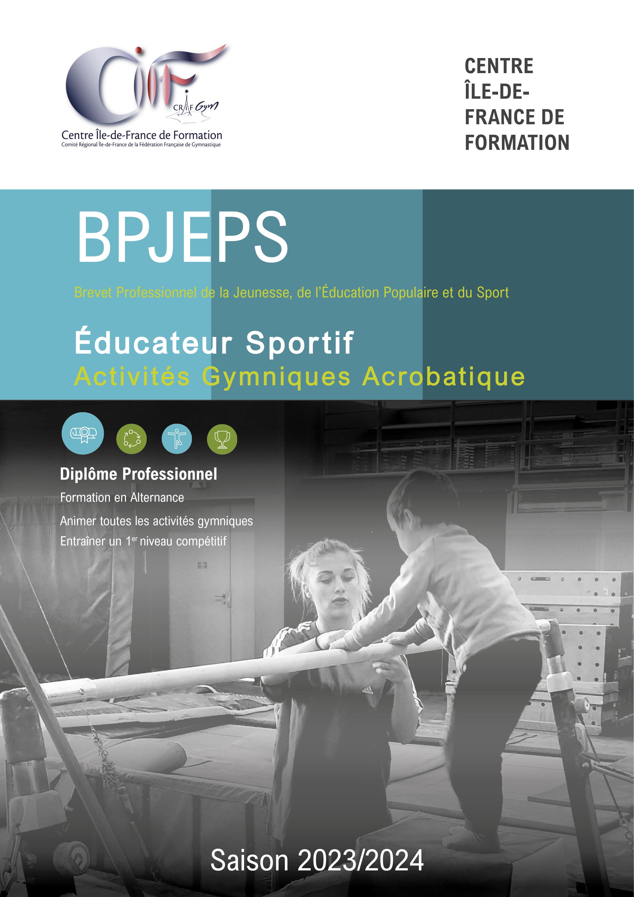 AGA : FORMATION BPJEPS