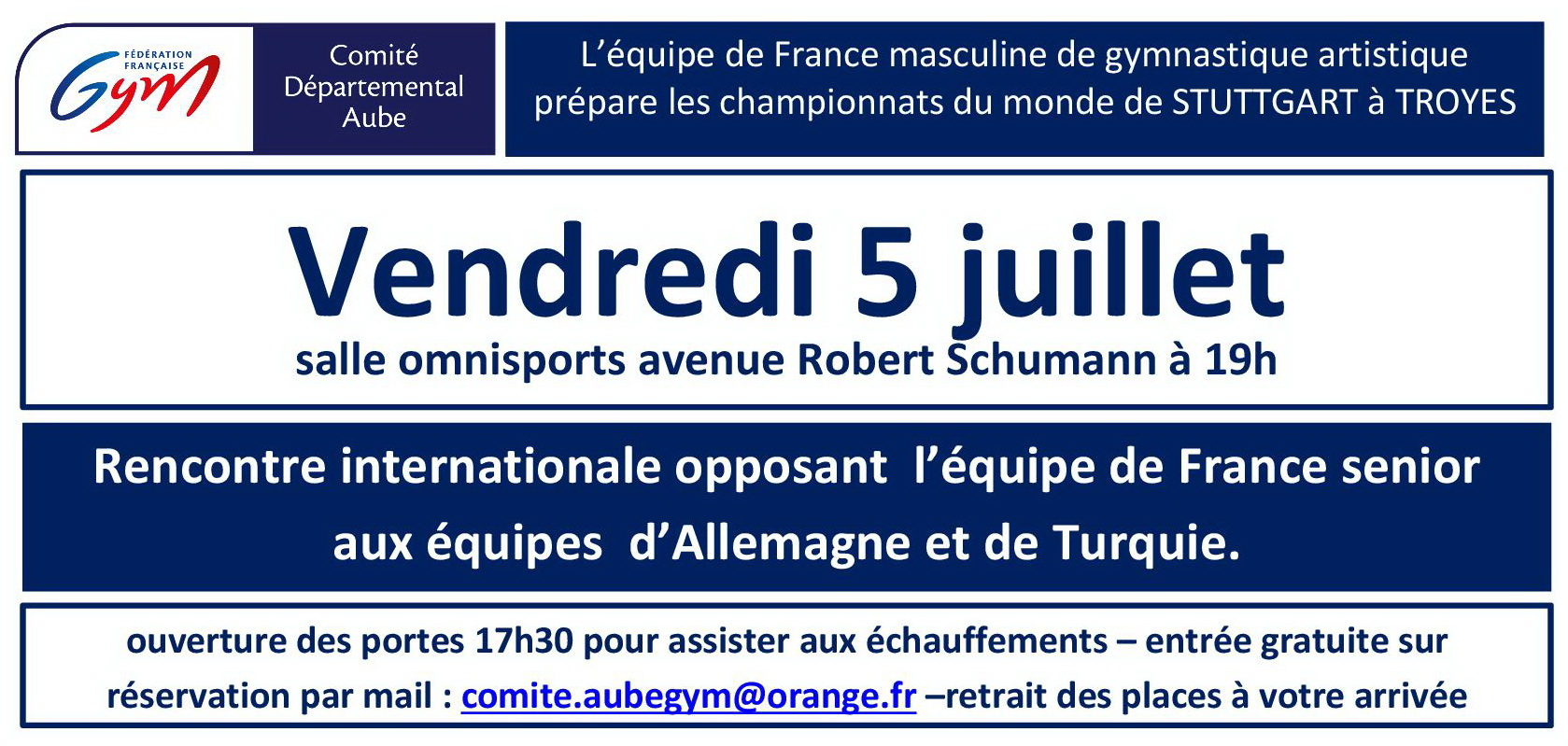 GAM : Rencontre Internationale - 5 juillet 2019 - Troyes
