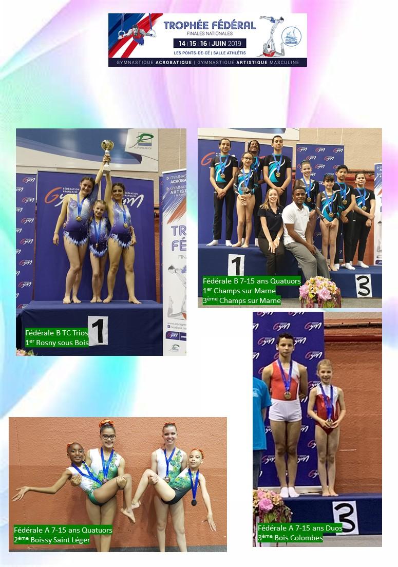 GAc / GAM : Médaillés des Championnats de France TF - 14 au 16 juin 2019 - Les Ponts de Cé