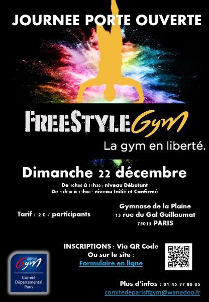 FREESTYLEGYM : ANNULATION Journée Porte Ouverte - 22 décembre - Paris 15