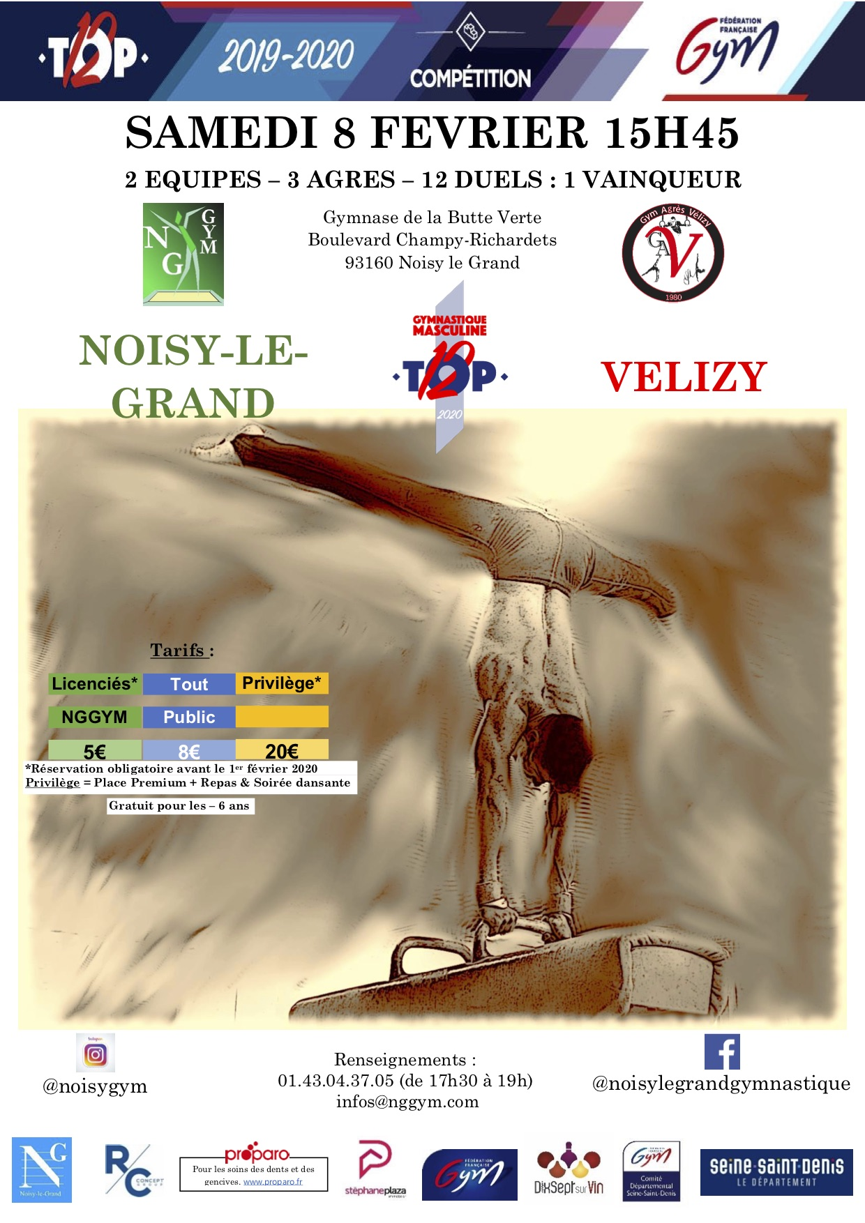 GAM : Rencontre TOP 12 Noisy-le-Grand VS Vélizy - samedi 8 févier 2020