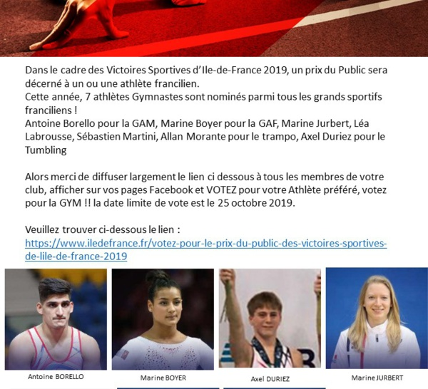 Victoires Sportives IDF 2019