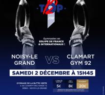 GAM : Affiche Rencontre TOP 12 NOISY LE GRAND vs CLAMART le 2 Décembre 2017