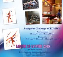 GAF : Affiche du Challenge NOKOVITCH - Courbevoie, le samedi 20 janvier 2018